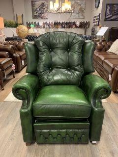 Engelse Springvale chesterfield relaxfauteuil Groen Suzanne