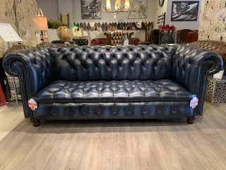 SHOWROOMMODEL: The Brighton Chesterfield 3 Zits bank Jeans Blauw