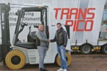 Levering compacte 7000 kg elektrische heftruck