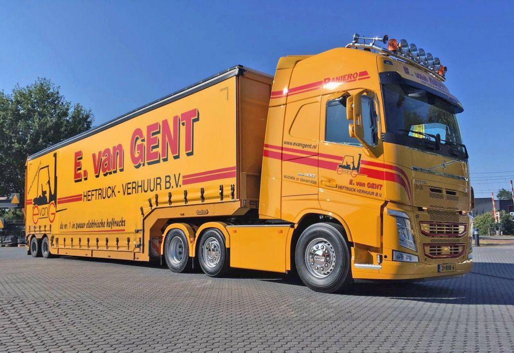 E. van Gent schaft nieuwe Volvo FH 500 pk 6x2 euro 6 trekker aan!