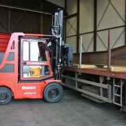 Levering Raniero compacte elektrische heftruck bij constructiebedrijf!
