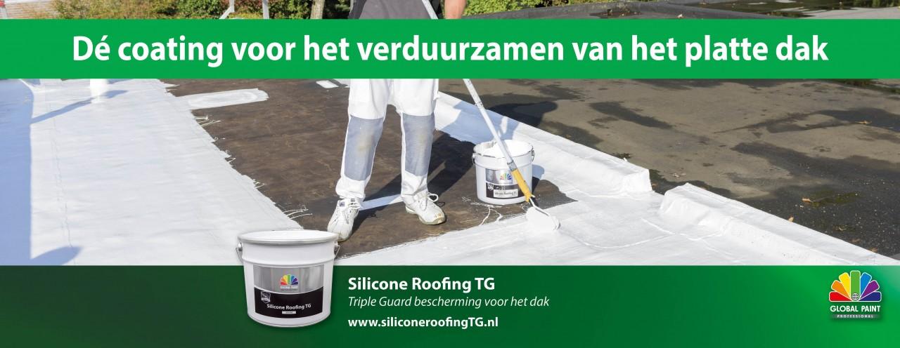Voorkomen is beter dan repareren!                          Silicone Roofing TG, Triple Guard bescherming voor het dak