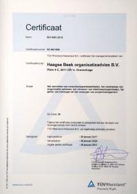 ISO-certificaat 2017-2020