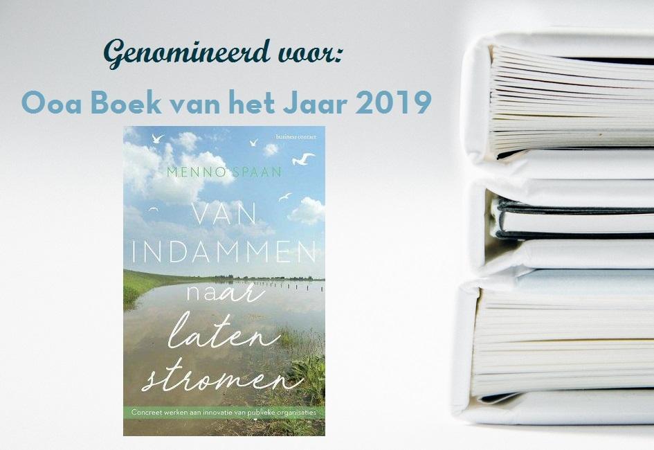 'Van indammen naar laten stromen' genomineerd voor Ooa Boek van het Jaar 2019