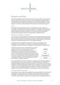 De essentie van de lean methode in twee pagina's
