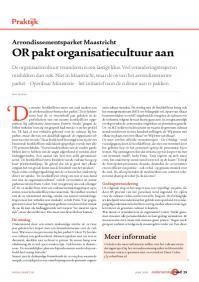 OR pakt organisatiecultuur aan bij het Openbaar Ministerie