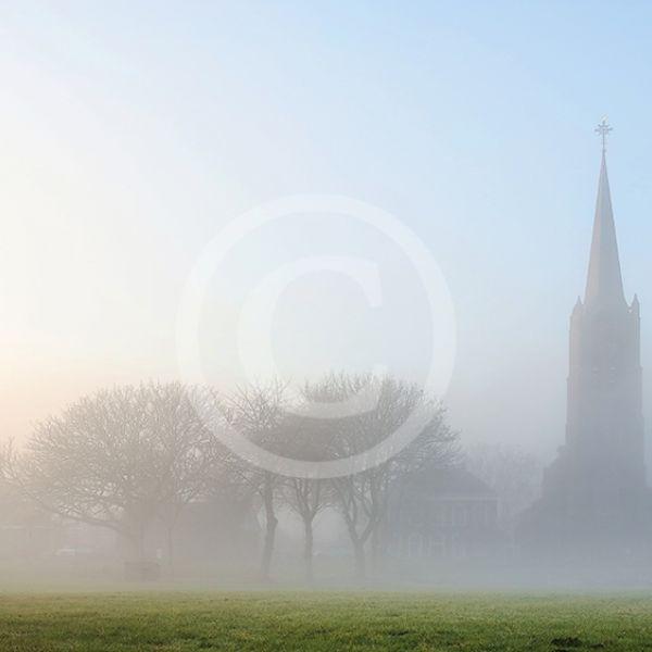 Batenburg in de mist