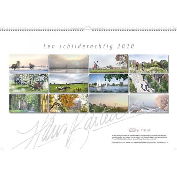 kalender Een schilderachtig 2020 AFHALEN