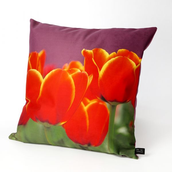 HUGS sierkussen Hollandse tulpen