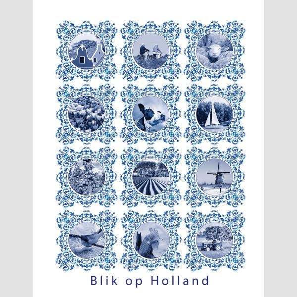 Delfts Blauw plaid
