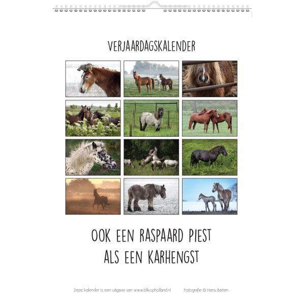 Paarden & Spreuken Verjaardagskalender
