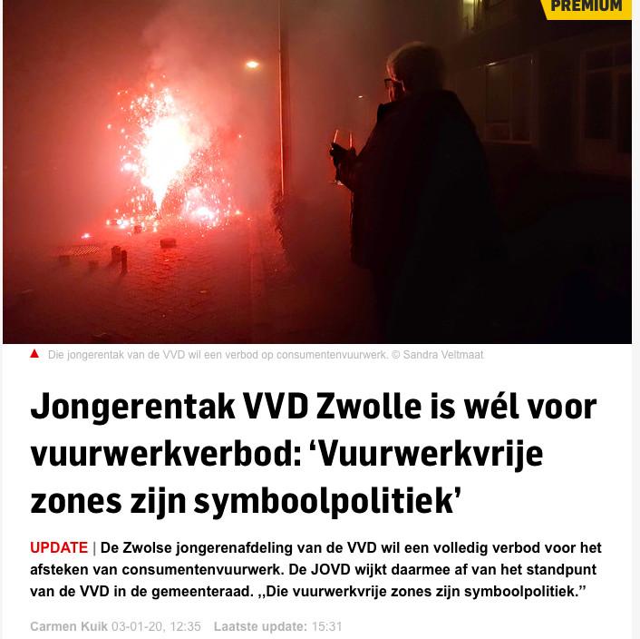 Gemeente Zwolle gaat de vuurwerkmist in