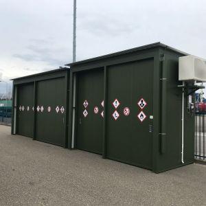 3 brandwerende opslagcontainers voor Sekisui S-lec te Roermond