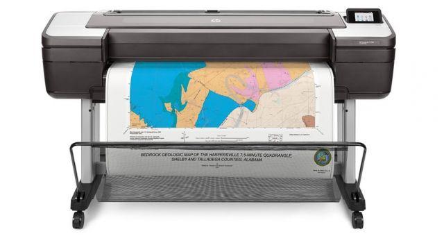 HP Designjet T1700, enkele rol