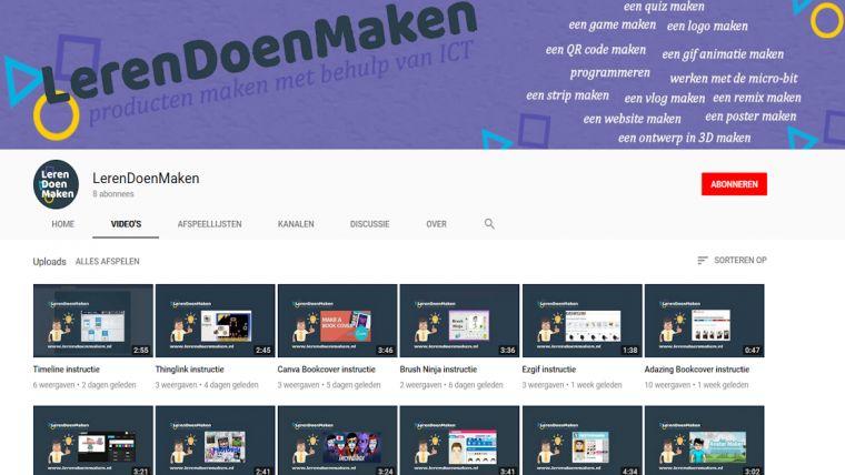 LerenDoenMaken youtube kanaal