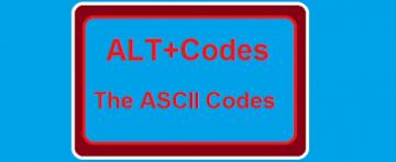 ASCI Codes