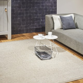 Vloerkleden wol - Camel/White 140 x 200 cm