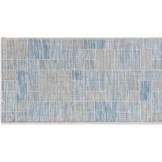 Patchwork Sky Ivory/Silver/Blue 60x110