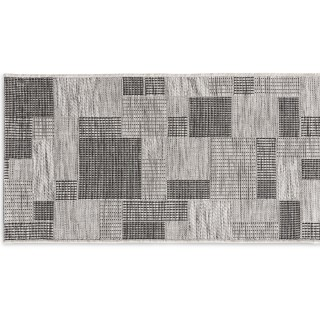Patchwork Sky Silver/Black/Taupe 60x110