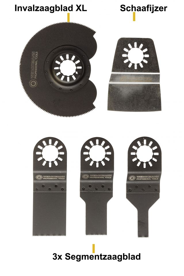 Sawblades set 5 pieces for Multitool from Wolfgang Germany