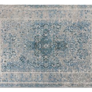 Medaillon Katoen Azuur Blauw Grijs 80x150