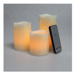 LED vlamloze kaars wit
