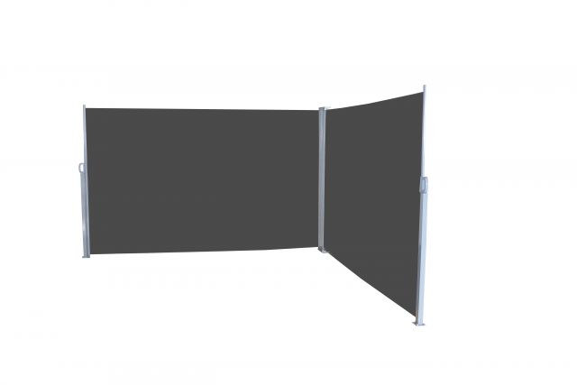 Lifa Garden dubbel windscherm 170x300 zwart