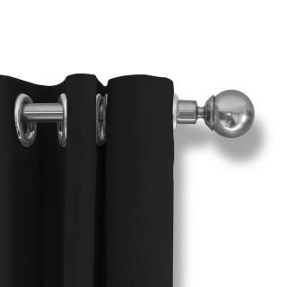 Lifa Living Gordijn 300x250 - Zwart ringen