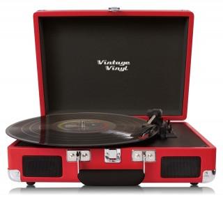 VintageVinyl Retro platenspeler - Rood