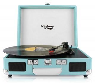 VintageVinyl Retro platenspeler - Blauw