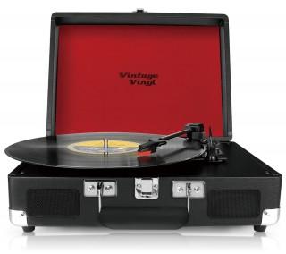 VintageVinyl Retro platenspeler - Zwart