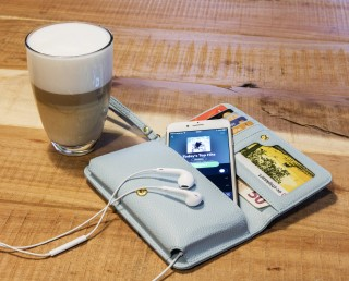 Smartphone wallet Pu Pouch met rits