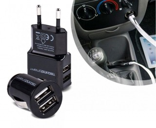 Technosmart Car charger, USB, 2.1A, zwart