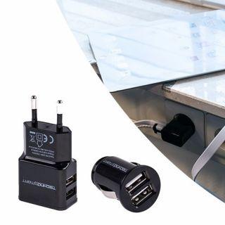 Technosmart Car charger, USB, 2.1A, zwart