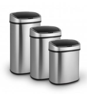 Stainless steel infrared garbage bin