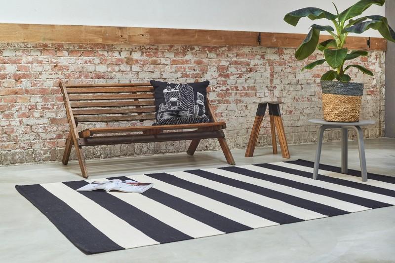 Tappeti Colorati Per Salotto : Tappeto in cotone stile orientale nero e bianco 160 x 230 cm ebay