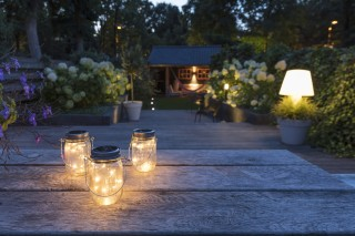 LED Solar lamp in pot Detroit 3/set