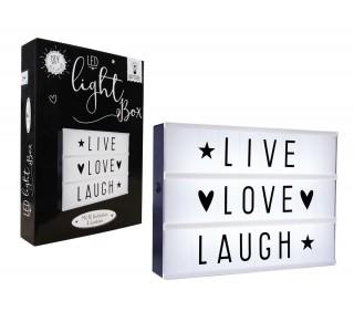 Lichtbox met letters