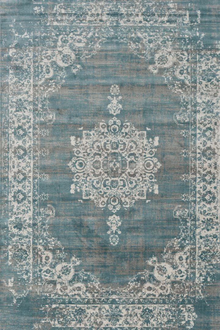 576ed6cd28b8d1 Cool Vintage vloerkleed - Grijs blauw