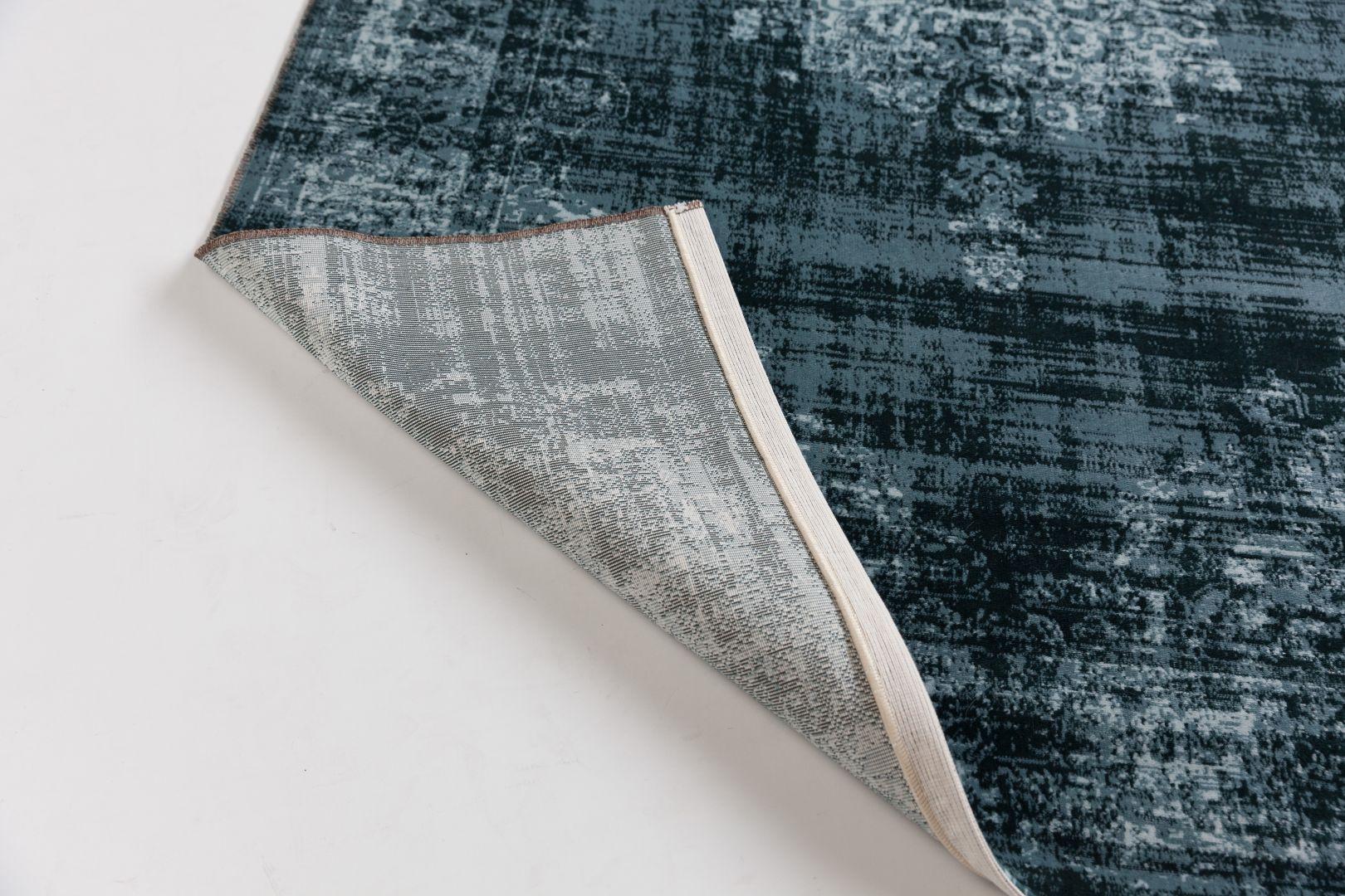 Vloerkleed Blauw Grijs : Cool vintage vloerkleed lifa living