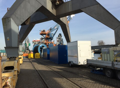 RHB Rotterdam Toiletwagen met schoon/vuilwater tanken
