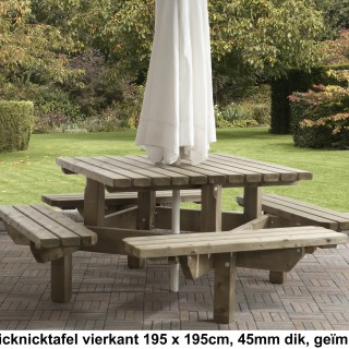 Picknicktafel 195x195 cm 45 mm