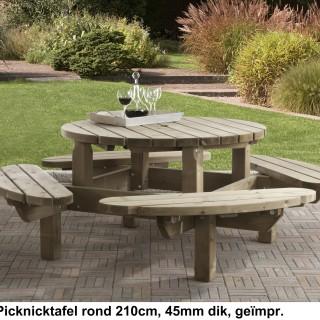 Picknicktafel rond 210 cm 45 mm