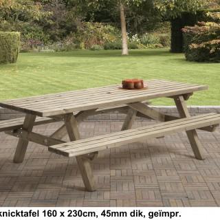 Pcknicktafel 160x230 cm 45 mm