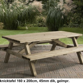 Picknicktafel 160x200 cm 45 mm