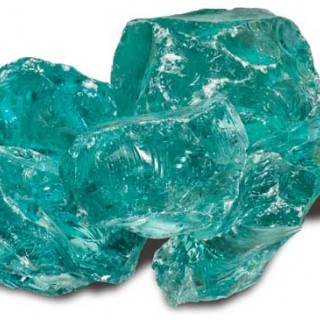 Glas Turquose Groen Breuksteen 15/25 cm