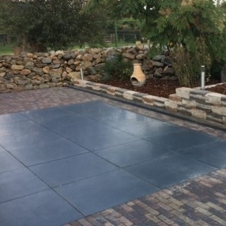 Basalt Tegels 80x80x3 cm