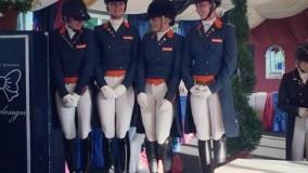 EK dressuur Young Riders: Nederland wint teamzilver