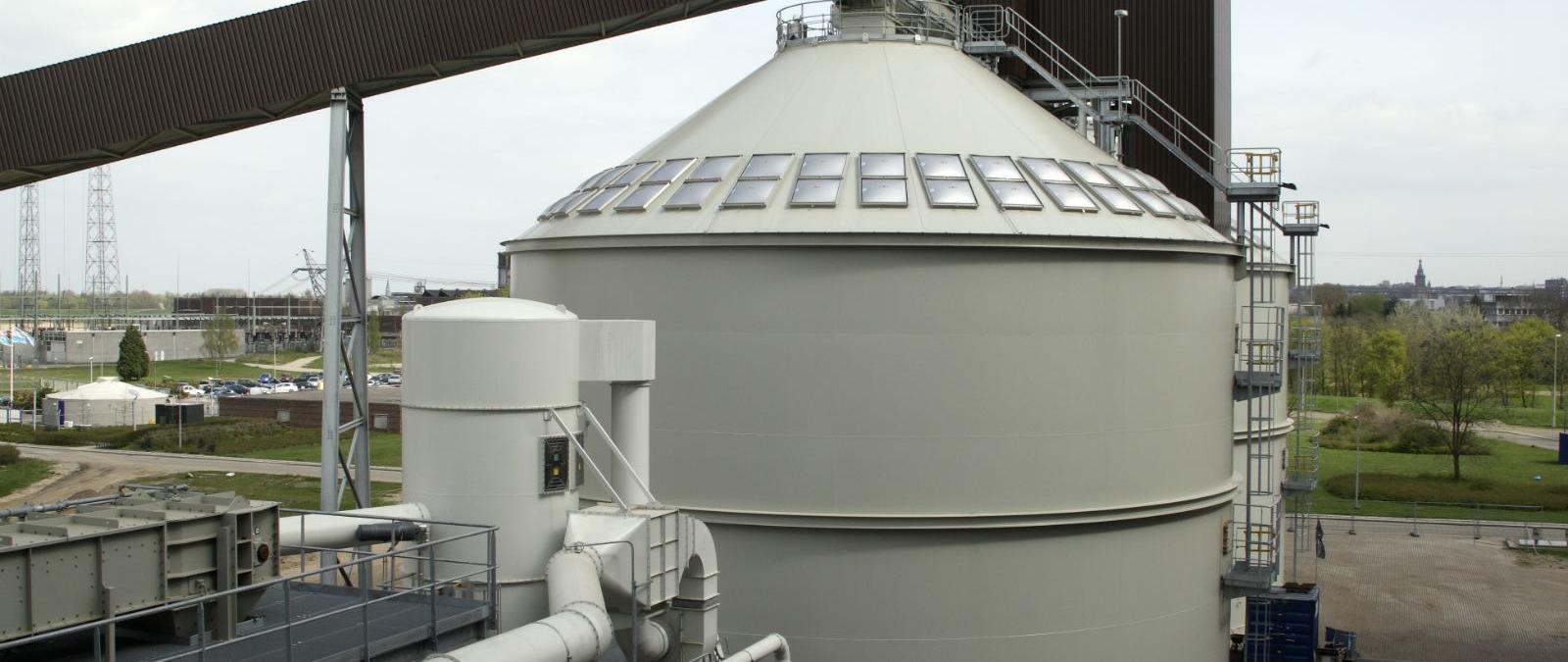 Biomassa-installatie bij Geldof
