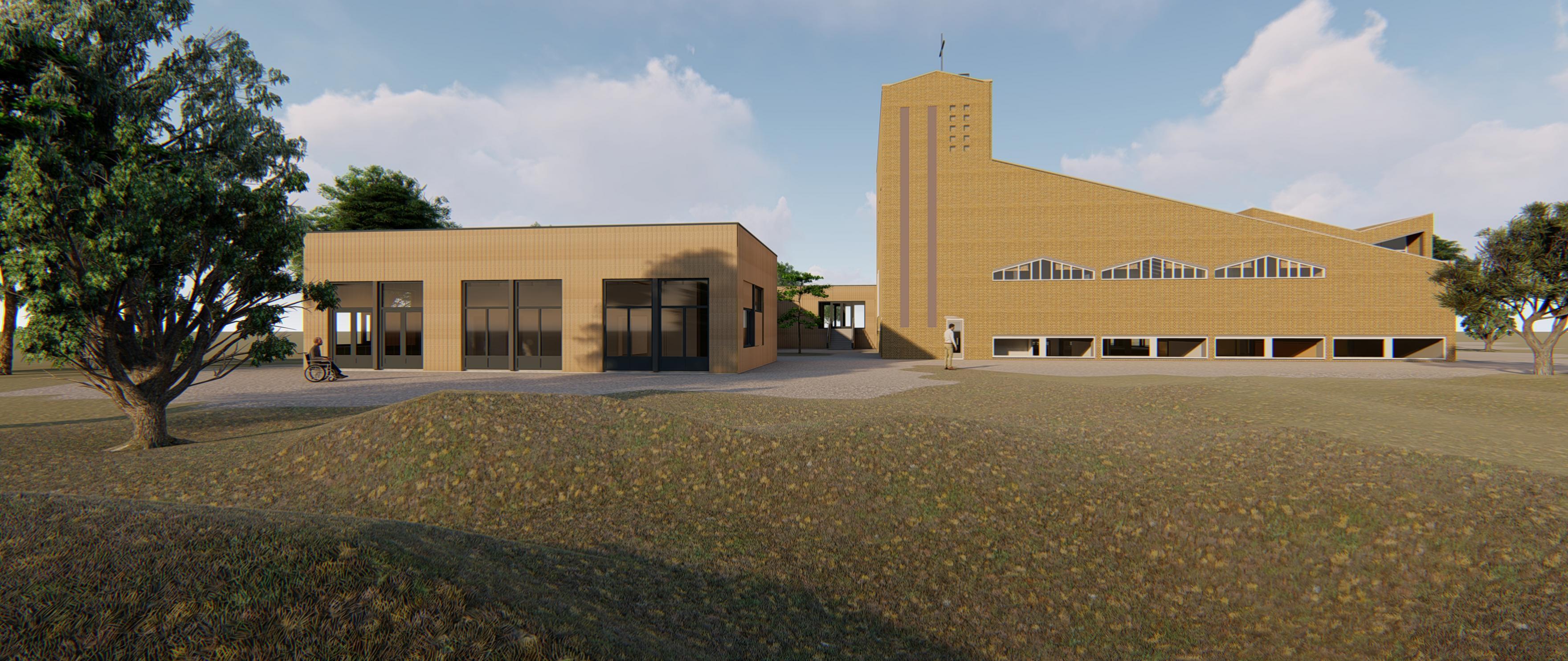 Opdracht renovatie kerk, locatie Hartenberg